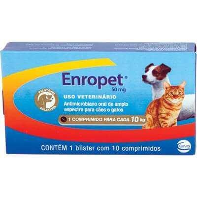 Antimicrobiano Enropet 10 Comprimidos  - Agropet Mineiro