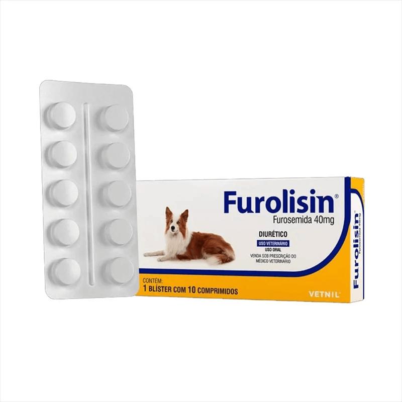 Furolisin 40 mg cartela com 10 comprimidos