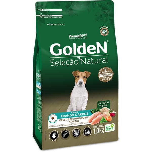 Golden Cães Adulto Seleção Natural Porte Pequeno  - Agropet Mineiro