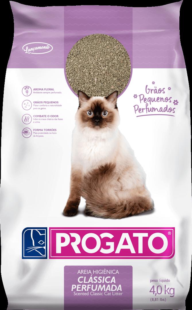 Granulado Higiênio ProGato Clássica Perfumada - Grãos Pequenos 4kg  - Agropet Mineiro