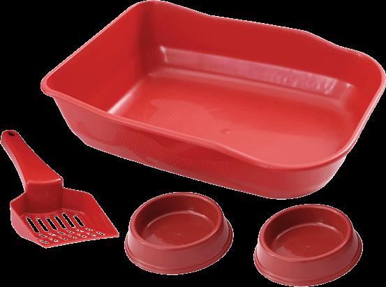 Kit Bandeja Duracat Vermelha