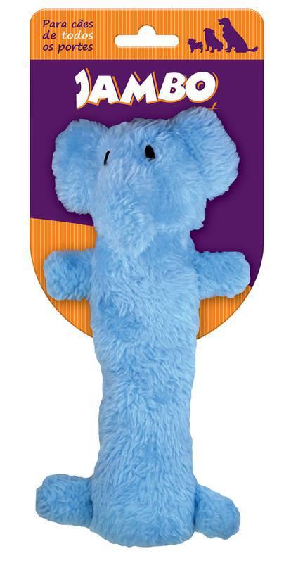 Mordedor Pelúcia Plush Elefante Azul  - Agropet Mineiro