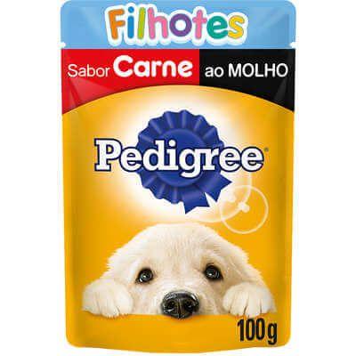 Pedigree Sachê Filhotes Sabor Carne ao Molho  - Agropet Mineiro
