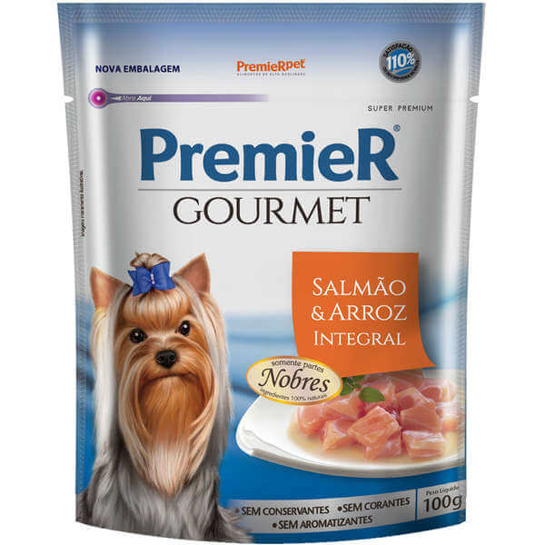 Premier Gourmet Sache Cães Sabor Salmão e Arroz Integral