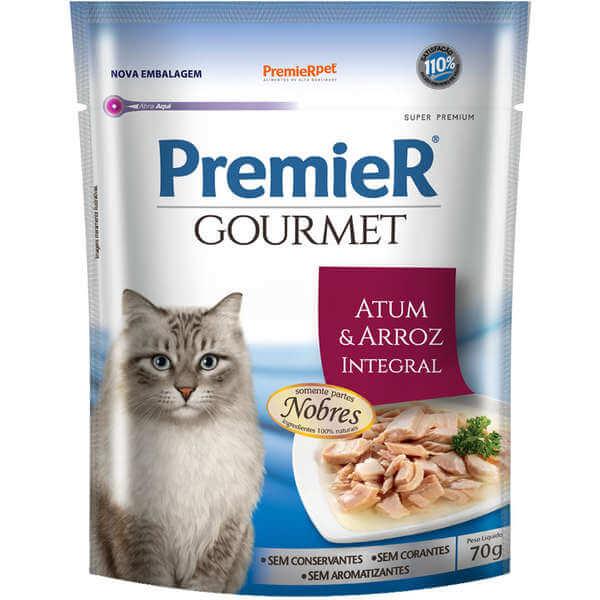 Premier Gourmet Sachê Gatos SAbor Atum e Arroz Integral