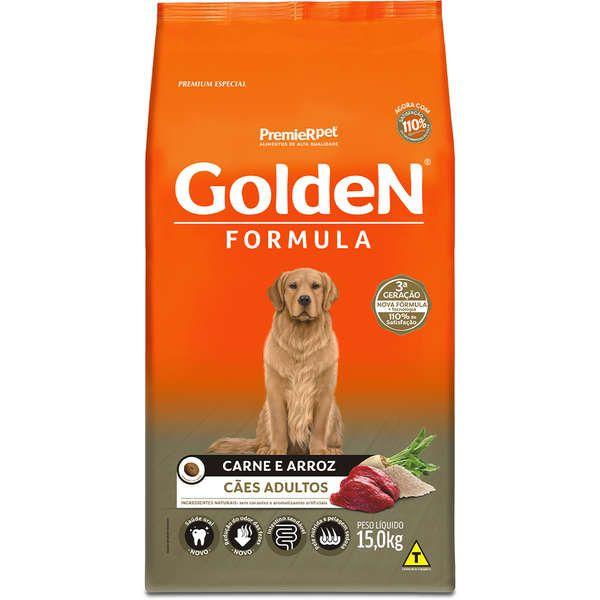 Ração Golden Adulto Carne 15 Kg