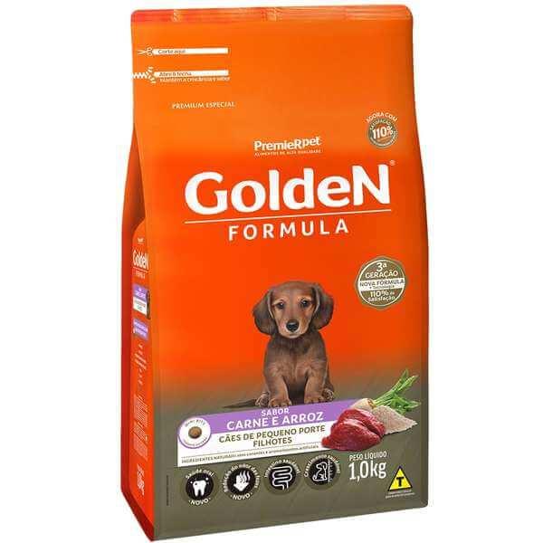Ração Golden Filhotes Carne Mini Bits   - Agropet Mineiro