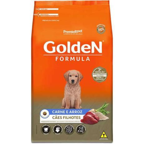 Ração Golden Fórmula Filhotes Carne e Arroz