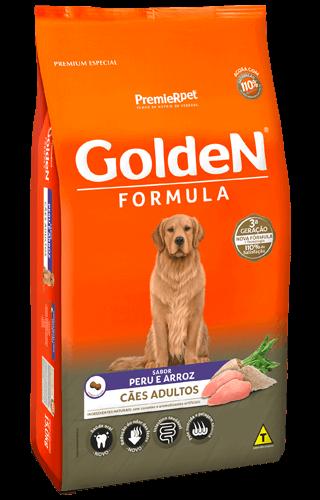 Ração Golden Fórmula Peru e Arroz 15kg  - Agropet Mineiro