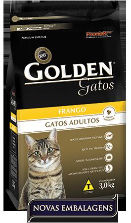 Ração Golden Gatos Adulto Frango  - Agropet Mineiro