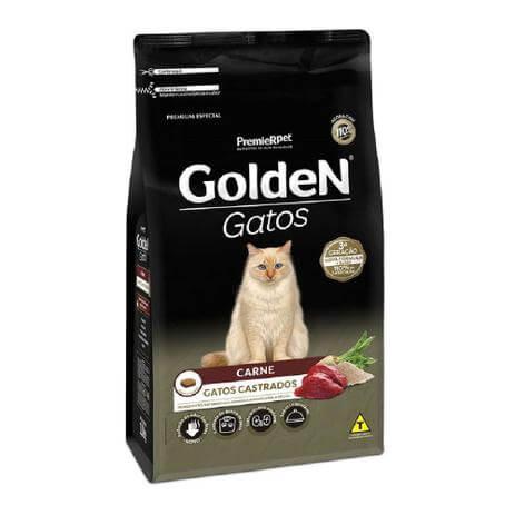 Ração Golden Gatos Castrados Carne  - Agropet Mineiro
