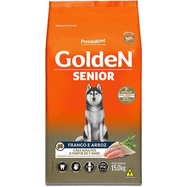 Ração Golden Sênior Cães 15kg  - Agropet Mineiro