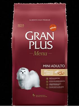Ração Gran Plus Raças Pequenas Frango e Arroz para Cães Adultos