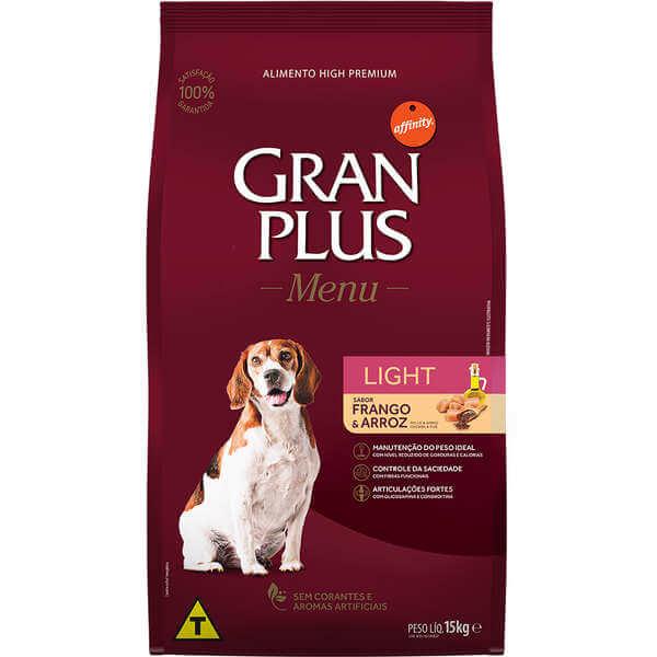 Ração Gran Plus Cães Light 15kg  - Agropet Mineiro