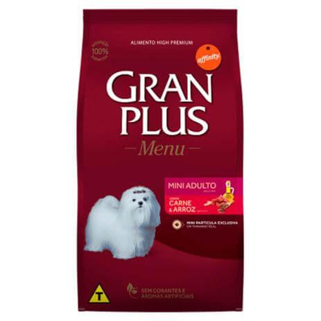 Ração Gran Plus Carne Mini Adulto 3kg  - Agropet Mineiro