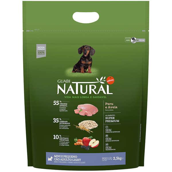 Ração Guabi Natural Cães Adulto Light Raças Pequenas e Mini 2,5kg
