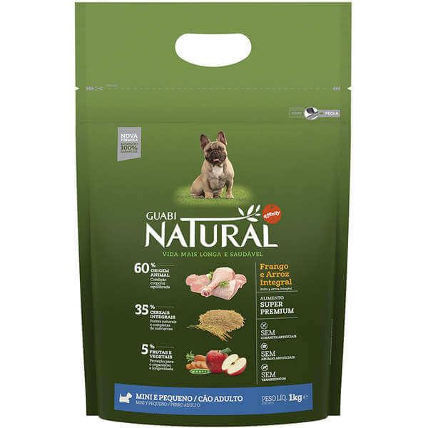 Ração Guabi Natural Cães Adultos Raças Pequenas Frango e Arroz Integral