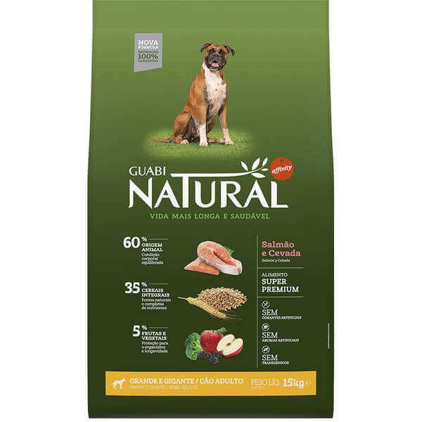 Ração Guabi Natural Cães Adultos Raças Grandes Salmão e Cevada 15kg