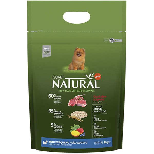 Ração Guabi Natural Cães Adultos Raças Pequenas Cordeiro e Aveia