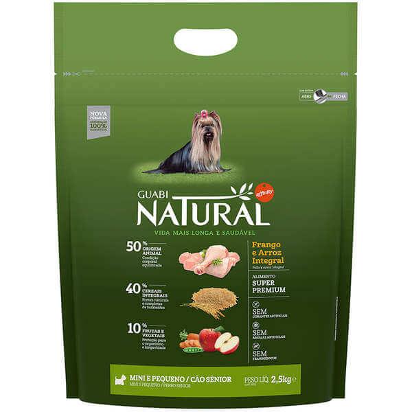 Ração Guabi Natural Cães Senior Pequeno Porte 2,5kg
