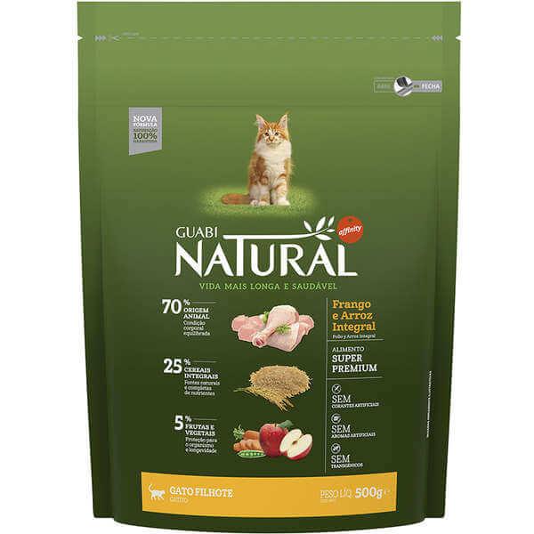 Ração Guabi Natural Gatos Filhotes Frango e Arroz Integral