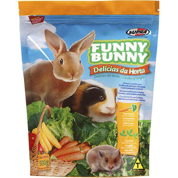 Ração para Coelhos e Pequenos Roedores Funny Bunny Delicias da Horta 500g