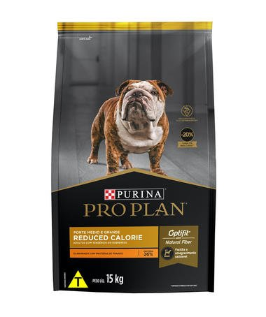 Ração Pro Plan Cães Reduced Calorie Porte Médio e Grande 15kg