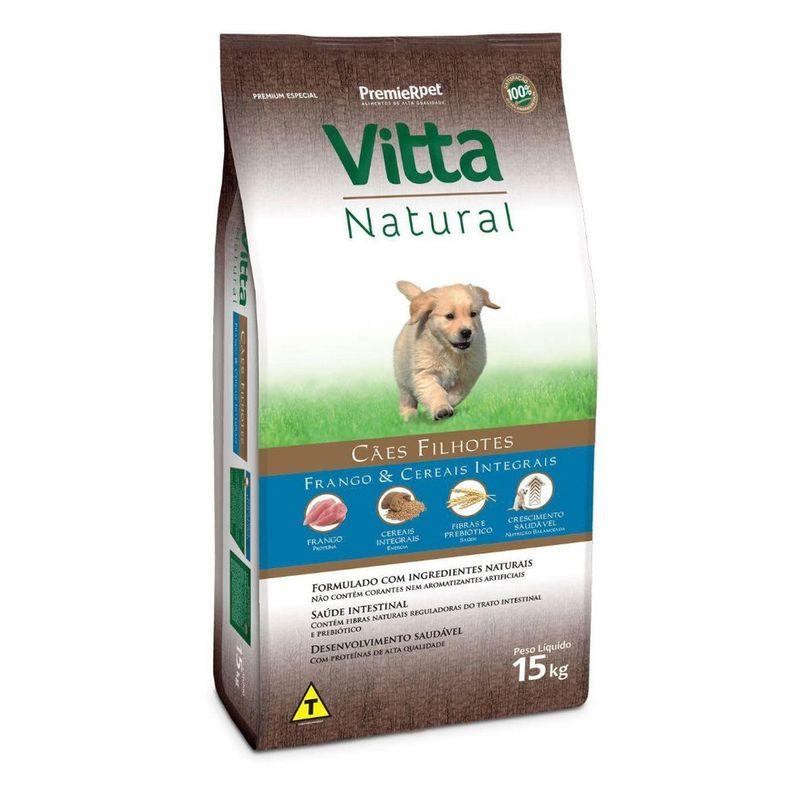 Ração Vitta Natural Cães Filhotes Frango 15kg
