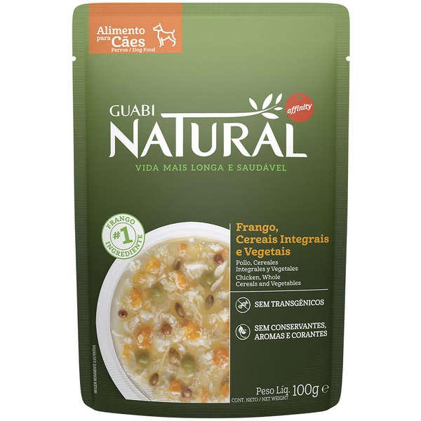 Sachê Guabi Natural Frango, Cereais Integrais e Vegetais 100g