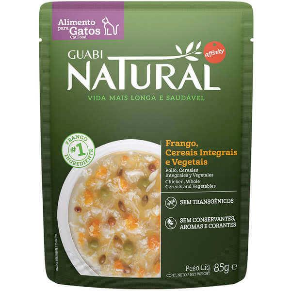 Sachê Guabi Natural Gatos Castrado Frango, Cereais Integrais e Vegetais 85g