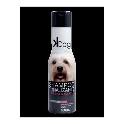 Shampoo Tonalizante Pelos Claros K-Dog 500ml  - Agropet Mineiro