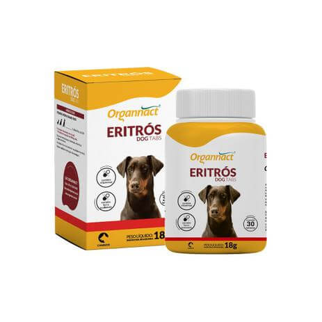 Suplemento Vitamínico Eritrós Dog Tabs 18g  - Agropet Mineiro