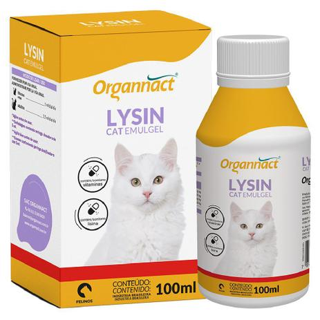 Suplemento Vitamínico Lysin Cat Emugel 100ml