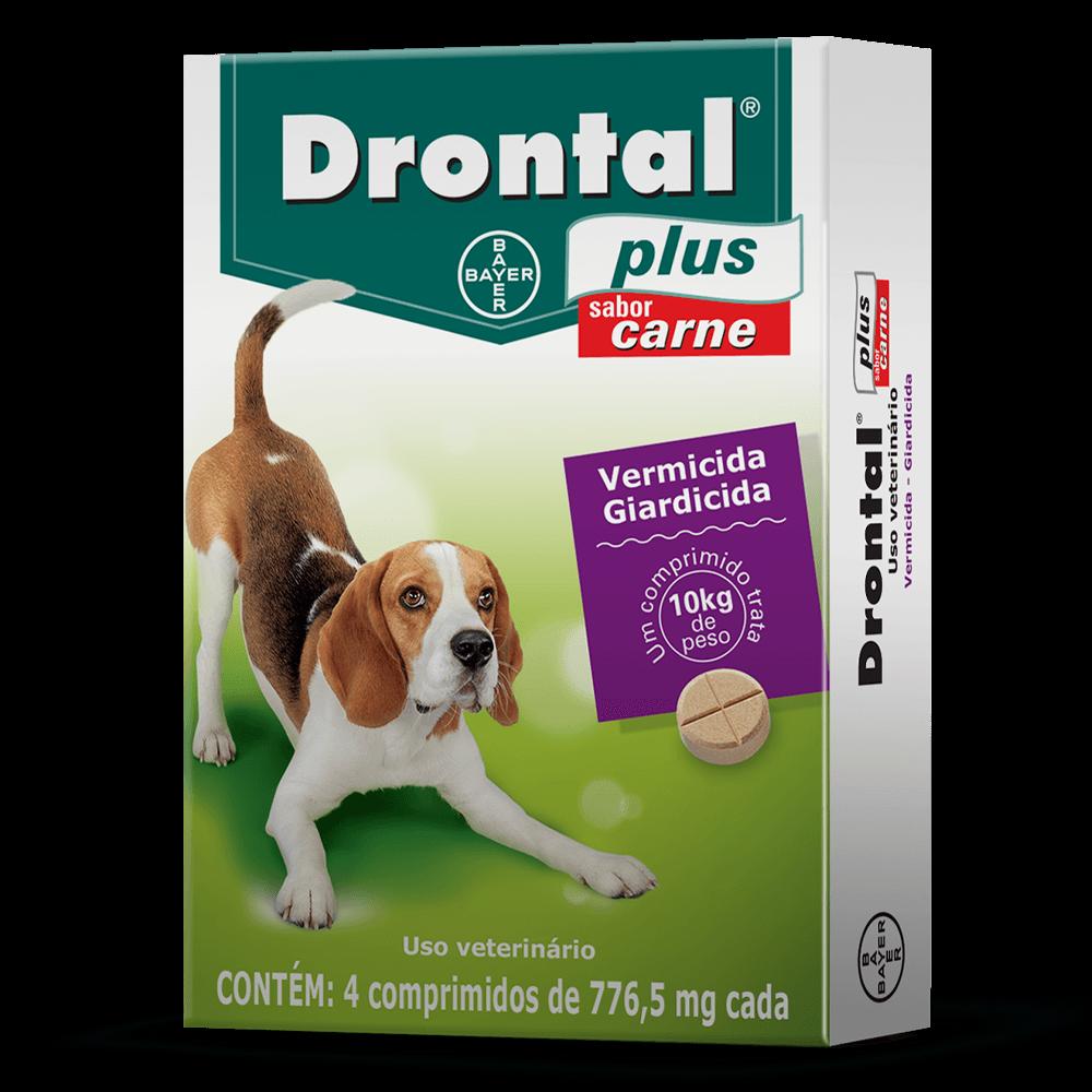 Vermífugo Bayer Drontal para Cães 10 kg - 4 Comprimidos