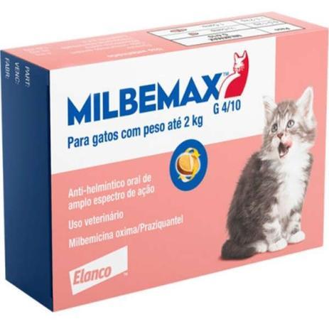 Vermífugo Milbemax para Gatos com até 2kg- 2 Comprimidos