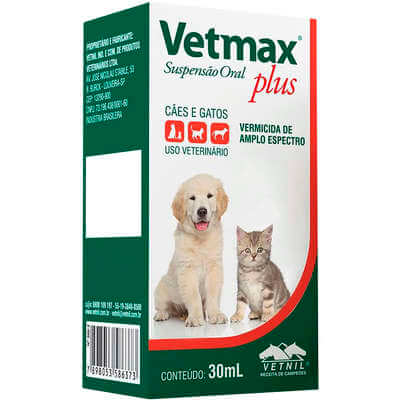 Vermífugo Vetmax Plus Supensão Oral 30 ml