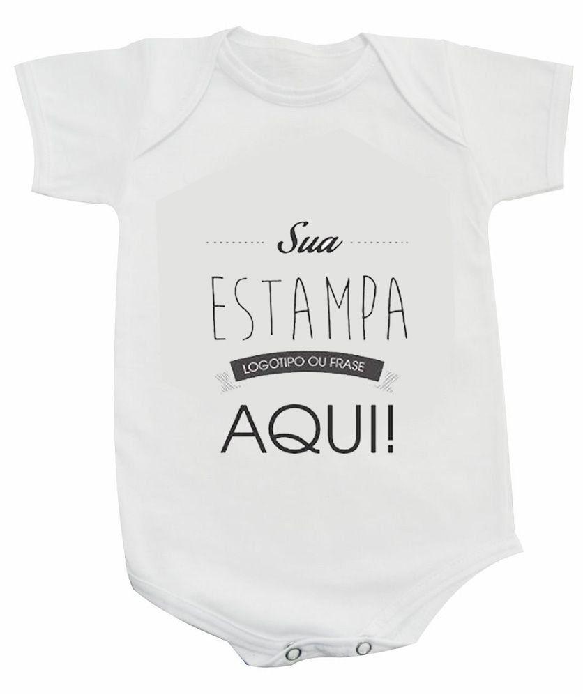 Body Baby Branco Poliéster - Personalizado