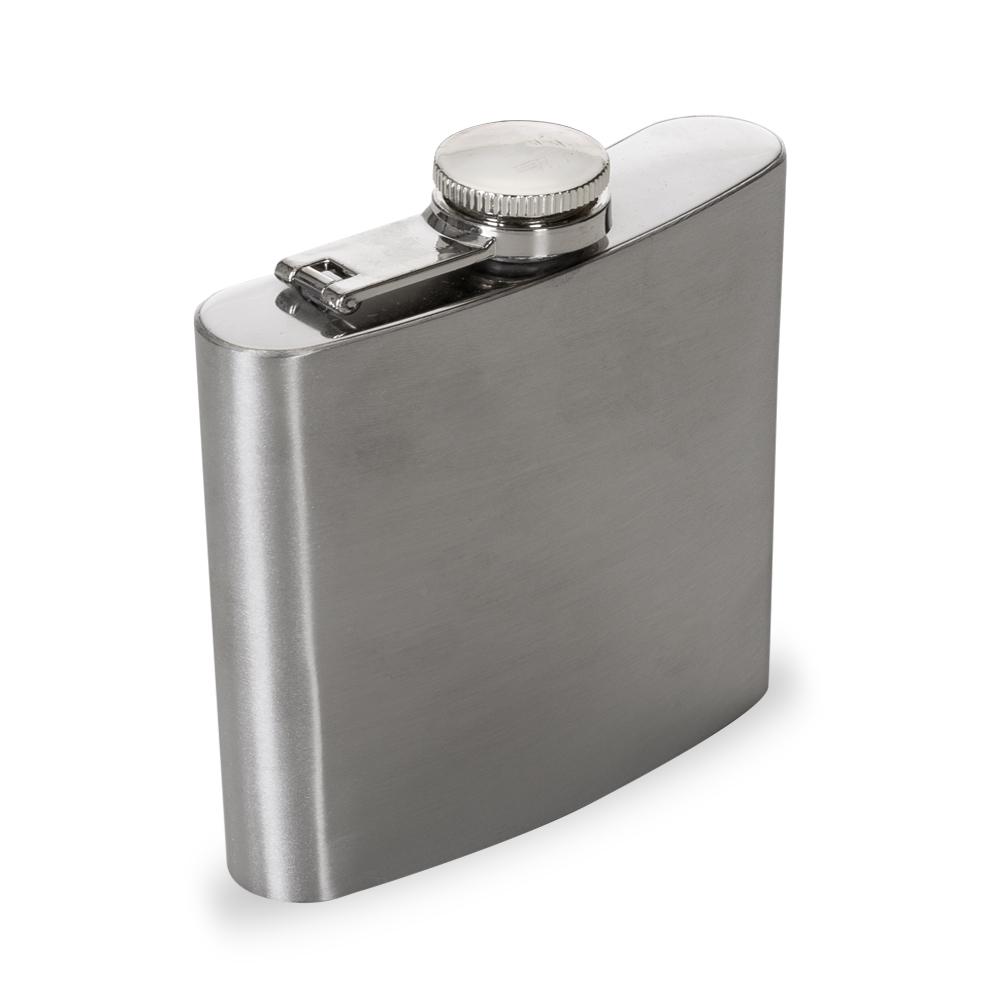 Cantil Porta Bebida De Bolso Em Inox 6 OZ