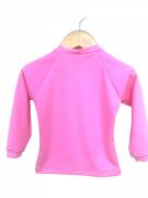 Camiseta Infantil Com Proteção Solar Manga Longa Rosa Ecotrends