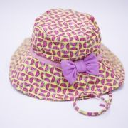 Chapéu com proteção solar Melância Rosa