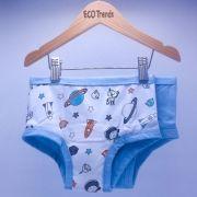 Kit com 2 calcinhas de transição/desfralde - Astronauta Azul