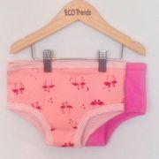 Kit com 2 calcinhas de transição/desfralde Ecotrends  - flamingo + pink