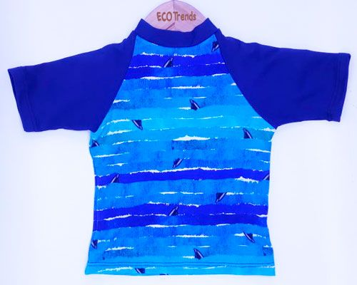 Camiseta com proteção solar manga curta Ecotrends - Barbatana