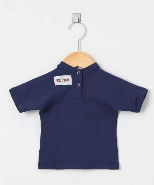 Camiseta com proteção solar manga curta Ecotrends - Azul Escuro