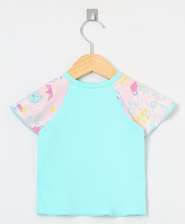 Camiseta com proteção solar manga curta Ecotrends - Fundo do Mar