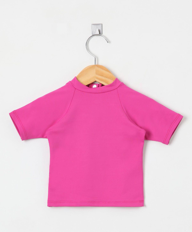 Camiseta com proteção solar manga curta Ecotrends - Pink