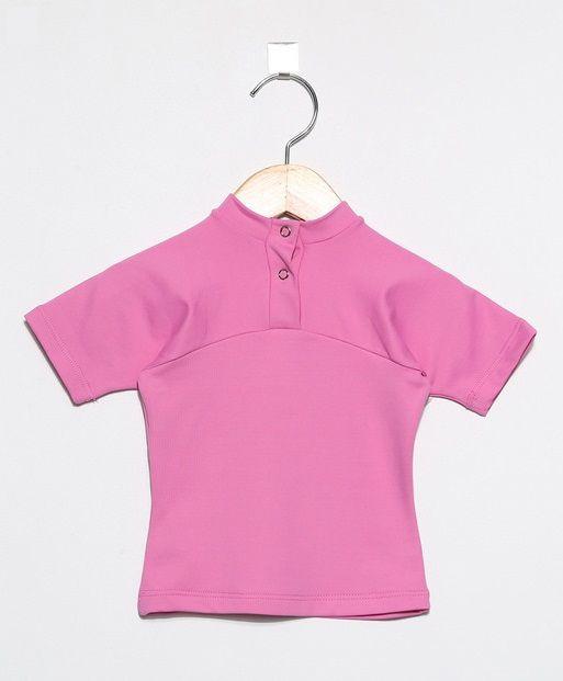 Camiseta com proteção solar manga curta Ecotrends - Rosa