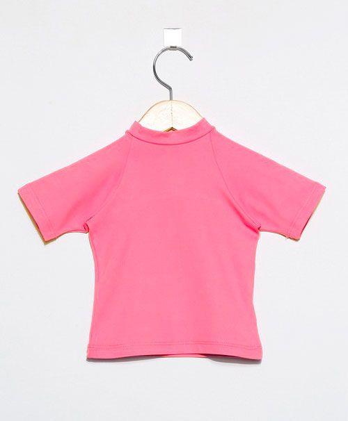 Camiseta com proteção solar manga curta Ecotrends - Rosa Novo