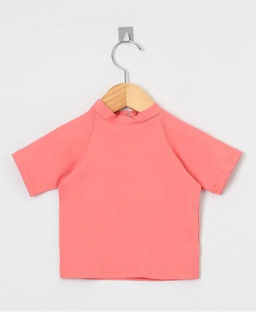 Camiseta com proteção solar manga curta Ecotrends - Rosé