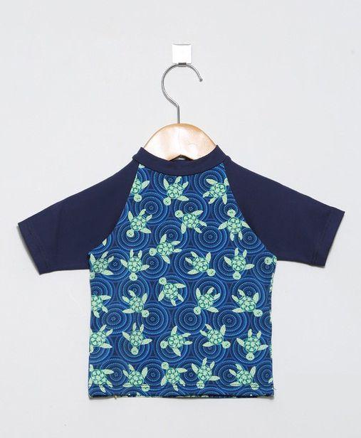 Camiseta com proteção solar manga curta Ecotrends - Tartaruga